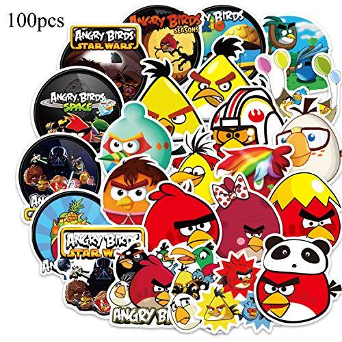 Vinyls Stickers, 100 Stück Graffiti Decals, Wasserdicht Aufkleber, Cartoon Aufkleber, für Wasserflaschen, Laptop, Autos, Motorrad, Fahrrad, Skateboard, Gepäck, Kühlschrank, Auto-Styling