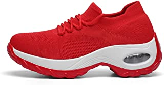 SKLT 6 Colors Air Cushioning Women Running Shoes Slip On Sock Sneakers Breathable Mesh Casual Swing Shoes Elasticity Trainers Sport