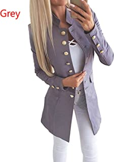 Women Coat Slim Long Sleeves Buttons Jacket Suit Female Tops Clothes for Autumn Spring