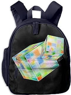 Pinta Rubik's Cube Cub Cool School Book Bag Backpacks for Girl's Boy's