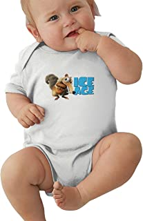 Wokeyia Ice Age Collision Course Breathable Romper Short Sleeve Onesies for Baby Onesies Black