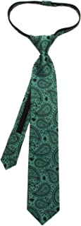 Yoda Paisley Boys' Zipper Silk Tie