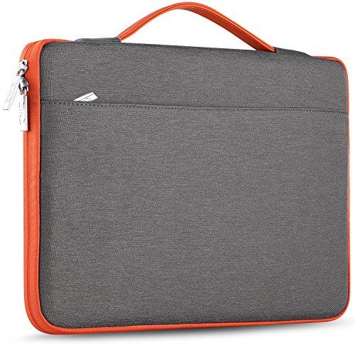 ZINZ Laptop Sleeve 15 15.6 16 Inch Case Briefcase, Compatible MacBook Pro 16 15.4 inch, Surface Book 2/1 15' Super Slim Spill-Resistant Handbag for Most Popular 15'-16' Notebooks, Dark Gray