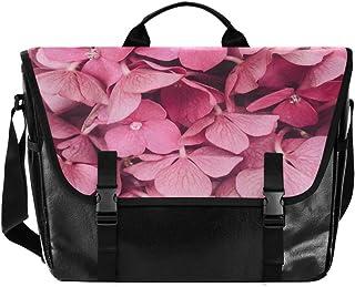 Hermosas flores florecen rosa hombres y mujeres lona bolsa señoras retro bolsa de hombro bolsa de la escuela Satchel, adec...