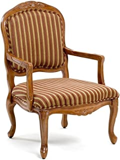 Comfort Pointe Franklin Accent Chair in Cherry Finish , White