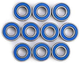 Akozon Ball Bearing, 10pcs MR115-2RS Bearing Steel Double-Shielded Miniature Ball Bearings 5x11x4mm