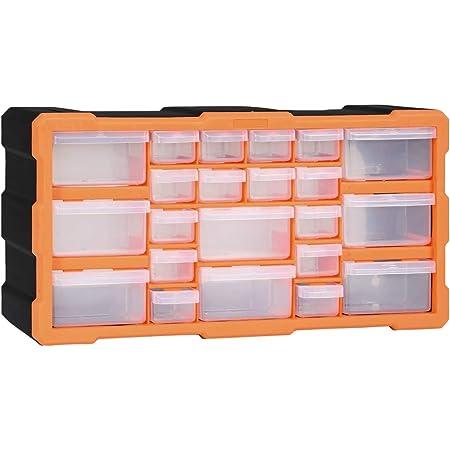 pedkit Organizador Multicajones Organizadores de Herramientas Caja de Almacenamiento Armario de Herramientas con 22 Cajones 49x16x25,5 cm