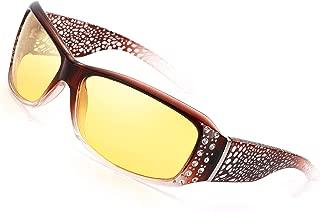 Night Vision Driving Glasses, Polarized for Women Fashion Design Anti Glare HD Vision Glasses
