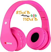 Volume Limited 85dB Kids Headphone Bluetooth Wireless Over Ear Foldable Stereo Sound..