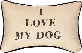 وسادة مطبوع عليها عبارة I Love My Dog Word مقاس 32.5 سم × 21.5 سم