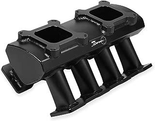 Holley 831072 Sniper Sheet Metal Intake Manifold; Hi-Ram Fabricated; Ls7 Single plane Dual Quad Carbureted; Black W/sniper Logo;