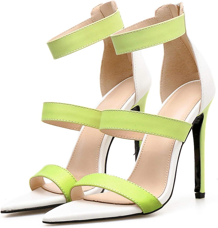 Summer 11cm High Heels Open Toe Strap Sandals Lady Pumps Female Green Dress Sandals Stiletto Platform shoes YQS-10