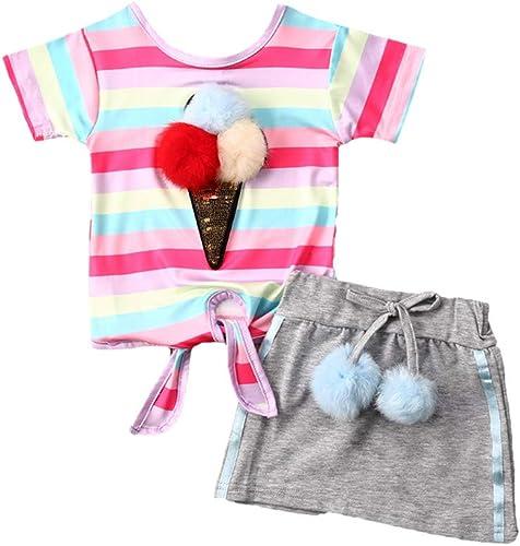 Whiskey is Always A Good Idea Baby Girls Summer Dress Outfits Ruffle Short T-Shirt Romper Dress,One-Piece Jumpsuit
