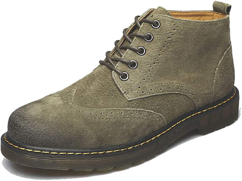 Herren-Reproduktion Lederschuhe Klassische Lace-Stiefel mit handgetippten, Vintage Casual Knchelstiefel, Plus Velvet Warm Leder Stiefel