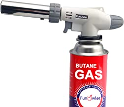 Butane Torch Kitchen Blow Lighter - Culinary Torches Chef Cooking Professional Adjustable Flame with Reverse Use for Creme...