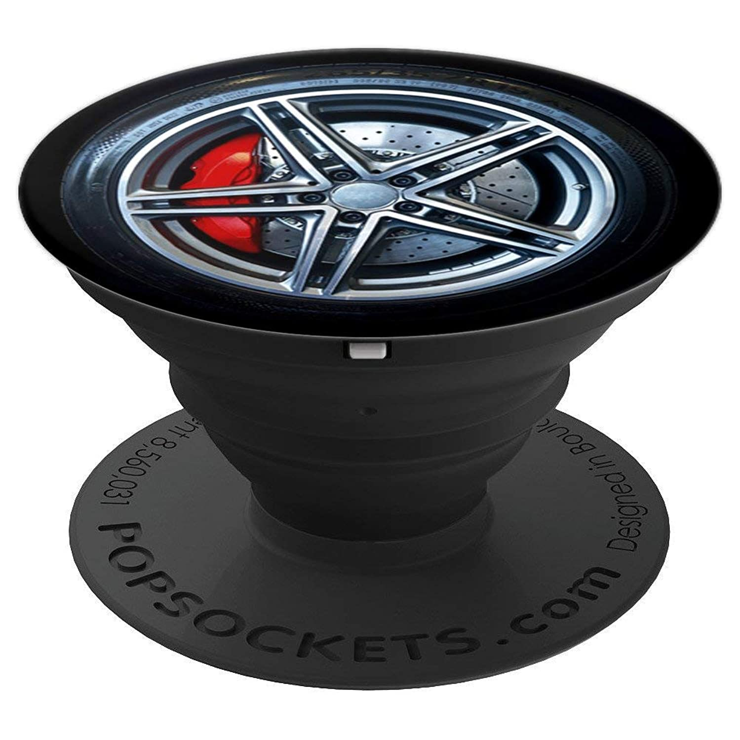 Racing Car Design Rim Tire Wheel Gift For Men Boys - PopSockets Grip and Stand for Phones and Tablets