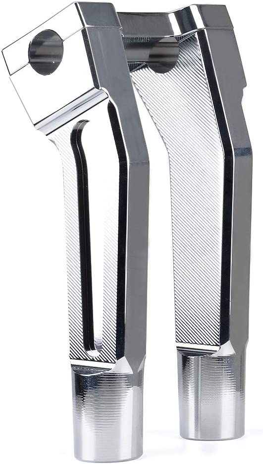 Sresk Pullback Handlebar Risers with One Piece Top Clamp for Harley Handlebars with 1 Clamping Area Black, 8