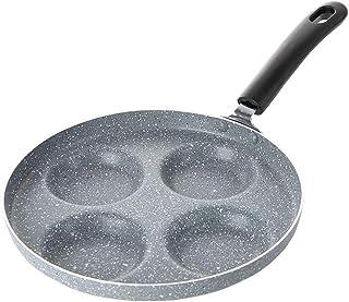 CHARON Pannkaksmaskin och non-stick 24 cm stekpanna, 4-form, ägg, pannkakor och mer, grå