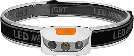 Hoofd Zaklampen LED Koplamp 6 Modes Wit Rood LED Koplamp Aangedreven Hoofd Zaklamp (Emitting Kleur: Oranje)