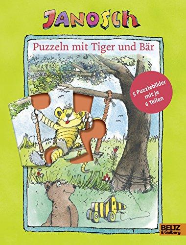 Puzzeln mit Tiger und Bär: Mit fünf 6-teiligen Puzzles