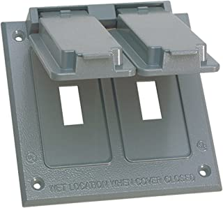 Sigma Electric, Gray 14349 2-Gang Switch Cover