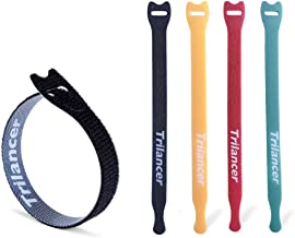 Reusable Cable Straps Wire Ties, Pack of 50 Trilancer Adjustable Cord Fastener Cable Organizer, 8 Inches(Multicolor)