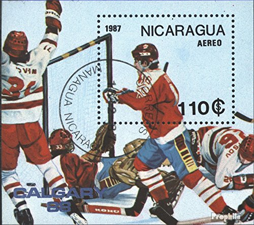 Prophila Collection Nicaragua Block172 (kompl.Ausg.) 1987 Olymp. Winterspiele ´88, Calgary (Briefmarken für Sammler) Wintersport