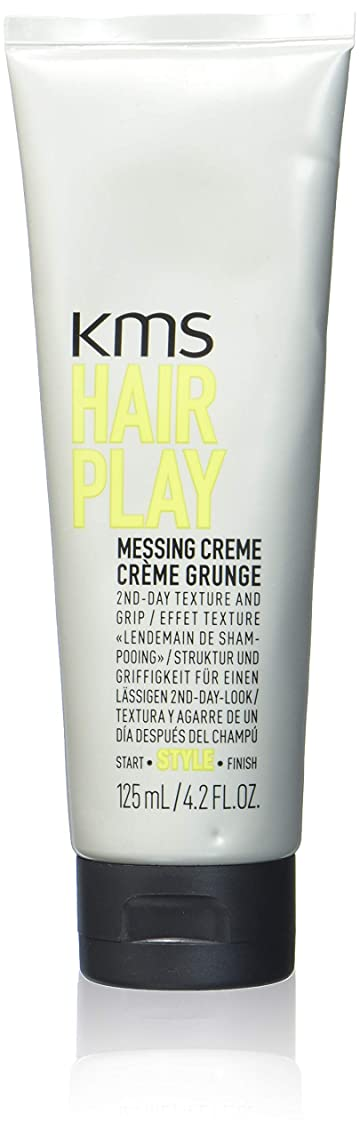 KMS HAIRPLAY Messing Crème 2nd Day Texture & Grip, Grittiness, Root Lift, Pliable Medium Hold, 4.2oz