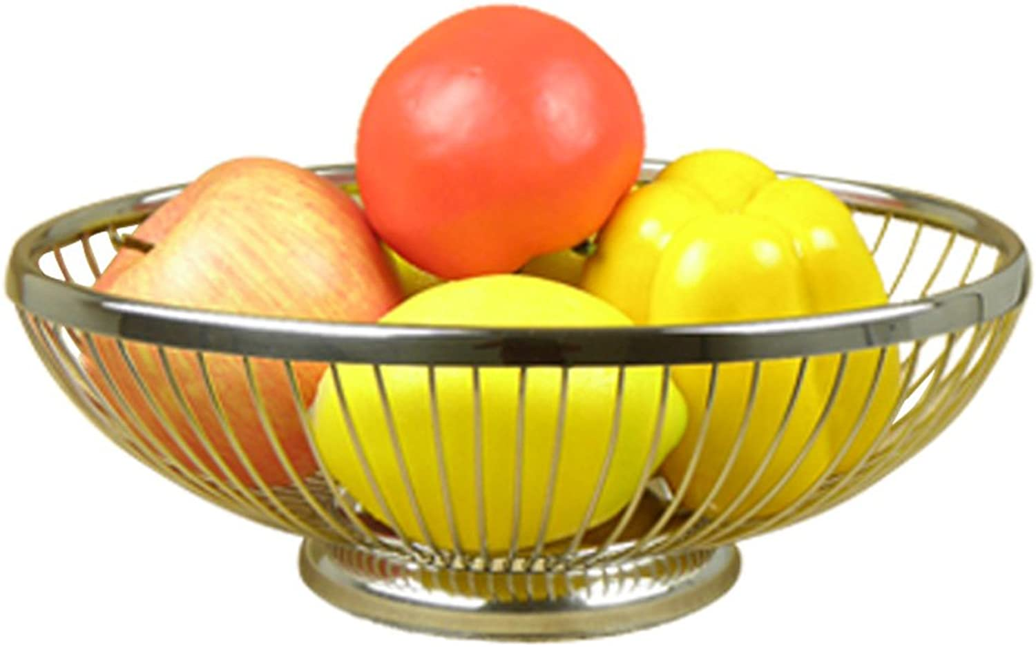 Porte-fruits en acier inoxydable Bowl Club Dinning Table Décoration Panier de fruits Argent