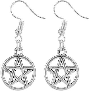 Silver Pentagram Earrings // Pentacle // Alternative Jewellery // Halloween // Witch // Pagan