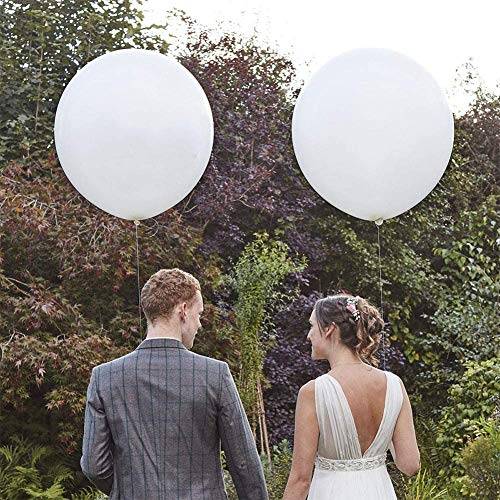 Large White Balloons 36 inch Latex Balloons, Pack of 12 Giant White Balloons for Wedding/Birthday/Photo Shoot/Party Event Decorations
