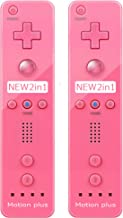 $34 » (2 Packs) - Remote Motion Plus Controller for Nintendo Wii & Wii U Video Game Gamepads (Pink)