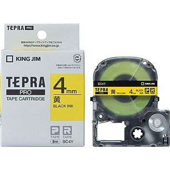 キングジム テープカートリッジ テプラPRO 4mm SC4Y 黄/黒文字