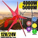 TQ La energía eólica generador de turbinas 4000W / 5000W 12V 14V 5 Viento aspa de Molino generador de Viento para Uso doméstico Farola Controller Set +,4000w,12V