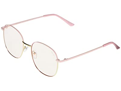 QUAY AUSTRALIA Jezabell (Pink Gold/Clear Blue Light) Fashion Sunglasses