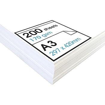 Artway Studio - Carta da disegno senza acidi - Singoli fogli ideali per uso a secco - 170g/m² - A3-200 fogli