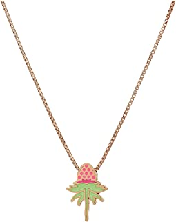 Wrinkle In Time - Pink Uriel Flower 18 Inch Adjustable Necklace