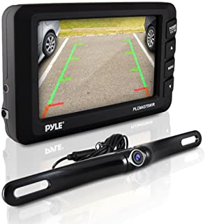 Pyle Wireless Backup Car Camera Rearview Monitor System - Parking & Reverse Safety Distance Scale Lines, Waterproof & Nigh...