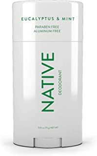 Native Deodorant - Natural Deodorant - Vegan, Gluten Free, Cruelty Free - Free of Aluminum, Parabens & Sulfates - Born in the USA - Eucalyptus & Mint