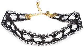 """Delicate Lace Choker – Black 3/4"""" Adjustable Necklace for Women – Handmade in Los Angeles"""
