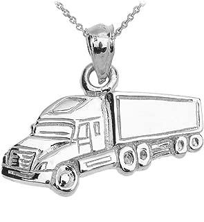 semi truck necklace