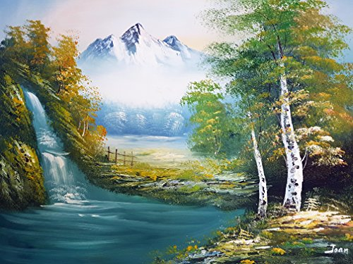 Rflkt Nature Mountain Scenery Pittura a Olio Dipinta a Mano su Tela - Ottima qualità e artigianalità