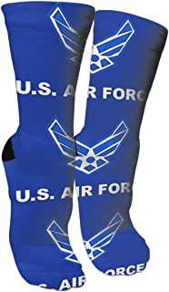 WAZNINA Air Force Style Military Flag Beauty Fashion Warm Winter Compression Socks Cotton Crew Socks One Size for Women and Men(15.8inch)