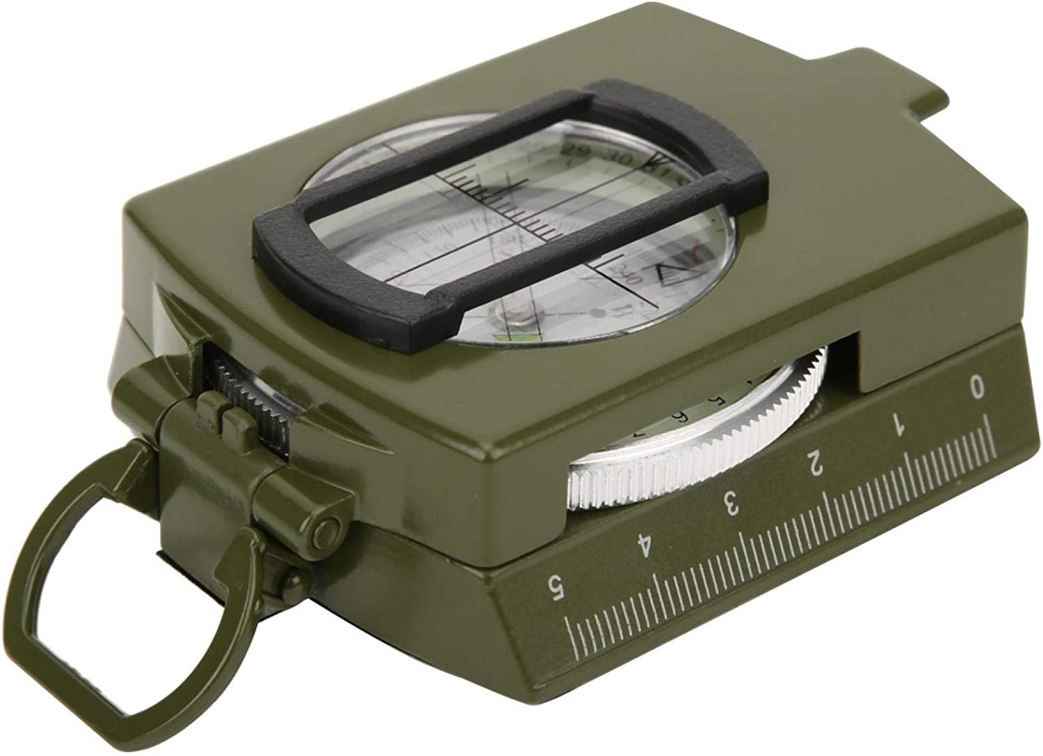 Durable Portable Lightweight Multifunctional Army Green Compass