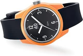 Women's Basic Japanese-Quartz Watch with Silicone Strap, Black, 17 (Model: 40N2.6L