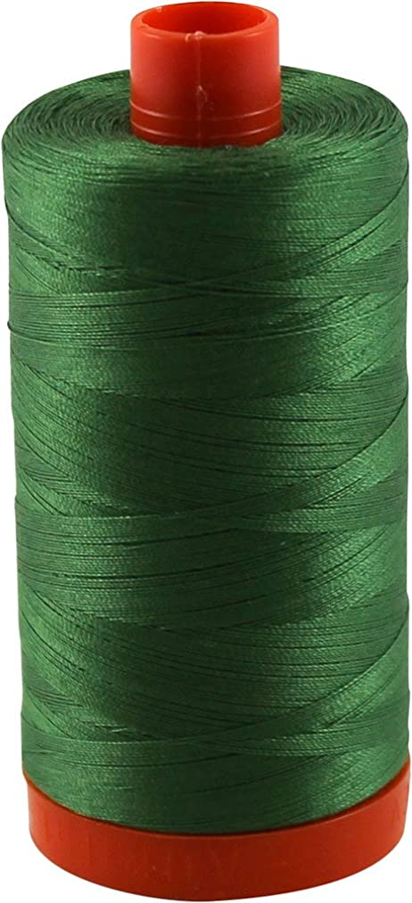 Aurifil Thread 2890 DARK GRASS GREEN Cotton Mako 50wt Large Spool 1300m