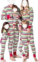 Matching Family Pajamas PJ Christmas Striped Onesie Sleepwear