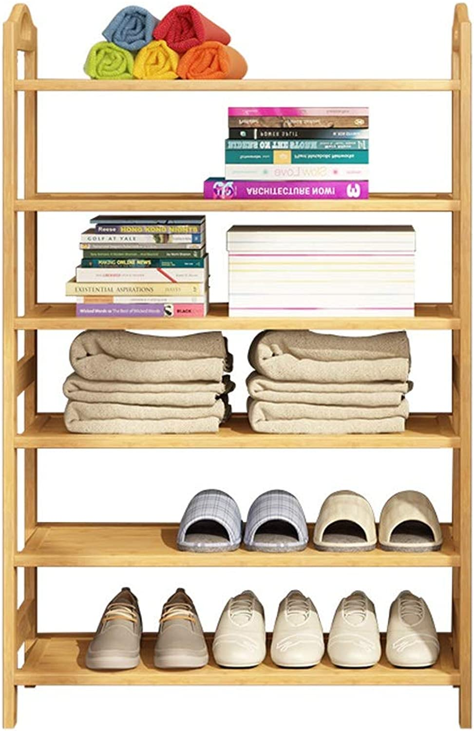shoes Rack Simple shoes Rack dustproof Economic shoes Rack Bamboo Multi-Layer shoes Rack-Bedroom Storage Wooden Frame shoes Rack shoes Organizer, Storage Shelf, Ideal for Entryway