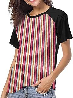 T Shirt Print Girls Tee,Colorful,Kids Playing in Field S-XXL T Shirt Print Short Sleeve