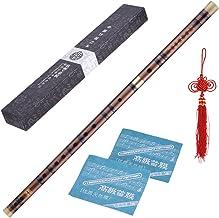 ammoon Flauta de Bambú Enchufable Amargo Dizi Tradicional Hecho a Mano Musical Chino Instrumento de Viento de Madera Clave de C Nivel de Estudio Profesional Actuación
